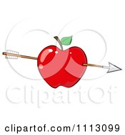 Clipart Arrow Through A Red Apple Royalty Free Vector Illustration