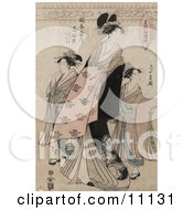 The Courtesan Shinateru Of The Okamoto Ya Clipart Picture by JVPD