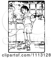 Clipart Vintage Boy Making A Mess Royalty Free Vector Illustration by Prawny Vintage