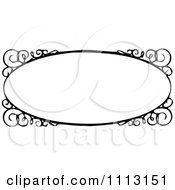 Clipart Black And White Ornate Vintage Frame With Swirls Royalty Free Vector Illustration