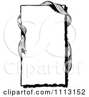 Clipart Black And White Vintage Frame With Ribbon Royalty Free Vector Illustration