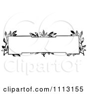 Clipart Black And White Vintage Frame With Vines Royalty Free Vector Illustration