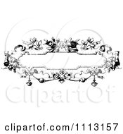 Clipart Black And White Ornate Vintage Frame Royalty Free Vector Illustration