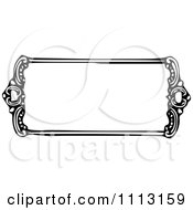 Clipart Black And White Vintage Frame Royalty Free Vector Illustration