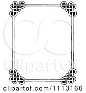 Clipart Black And White Celtic Styled Frame Royalty Free Vector Illustration