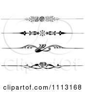 Clipart Vintage Black And White Decorative Art Deco Borders Royalty Free Vector Illustration by Prawny Vintage #COLLC1113168-0178