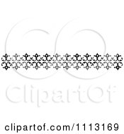 Clipart Vintage Black And White Decorative Border Design Element 1 Royalty Free Vector Illustration