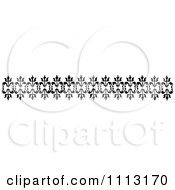 Clipart Vintage Black And White Decorative Border Design Element 2 Royalty Free Vector Illustration