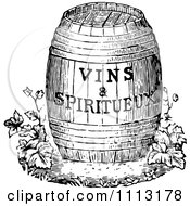 Clipart Vintage Black And White Wine Barrel With Text Royalty Free Vector Illustration by Prawny Vintage