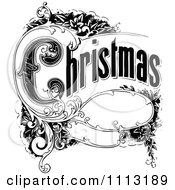 Clipart Vintage Christmas Sign With Ornate Elements Royalty Free Vector Illustration by Prawny Vintage #COLLC1113189-0178