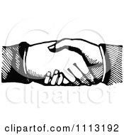 Clipart Vintage Hand Shake Royalty Free Vector Illustration by Prawny Vintage