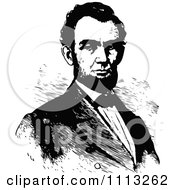 Clipart Vintage Black And White Portrait Of Abraham Lincoln Royalty Free Vector Illustration