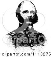 Vintage Black And White Portrait Of General Ambrose Burnside