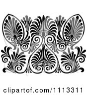 Clipart Vintage Black And White Art Deco Pattern Royalty Free Vector Illustration by Prawny Vintage