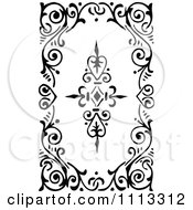 Clipart Vintage Black And White Art Deco Swirl Tile Royalty Free Vector Illustration by Prawny Vintage