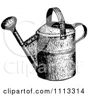 Clipart Vintage Black And White Watering Can Royalty Free Vector Illustration by Prawny Vintage