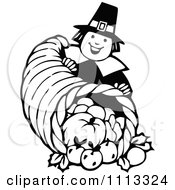 Clipart Vintage Black And White Royalty Free Vector Illustration