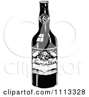 Clipart Vintage Black And White Beer Bottle Royalty Free Vector Illustration by Prawny Vintage