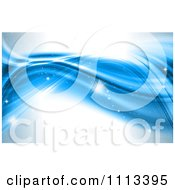 Clipart Blue Wave Background With Sparkles Royalty Free CGI Illustration by KJ Pargeter