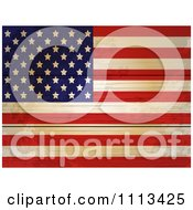 Clipart American Flag On Distressed Wood Planks Royalty Free Vector Illustration