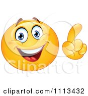 Clipart Smart Emoticon Making A Point Royalty Free Vector Illustration