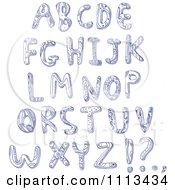 Blue Ink Doodled Capital Letters