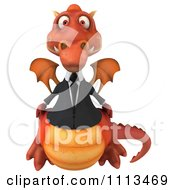 Clipart 3d Red Business Dragon Royalty Free CGI Illustration