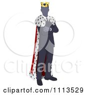 Clipart Faceless Business King With Folded Arms Royalty Free Vector Illustration