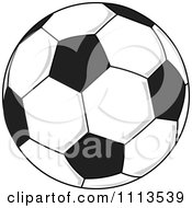 Clipart Soccer Ball Royalty Free Vector Illustration by djart