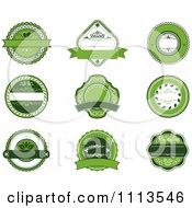 Green Organic Natural Labels