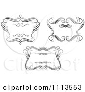 Clipart Ornate Black And White Swirl Frames 1 Royalty Free Vector Illustration by Vector Tradition SM