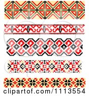 Clipart Native American Style Borders Royalty Free Vector Illustration by Vector Tradition SM