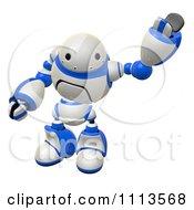 Clipart 3d Friendly Rogi Robot Waving 2 Royalty Free CGI Illustration