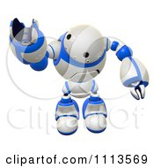 Clipart 3d Rogi Robot Reaching Out To Grab 2 Royalty Free CGI Illustration