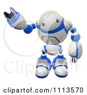 Clipart 3d Friendly Rogi Robot Waving 1 Royalty Free CGI Illustration
