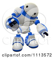 Clipart 3d Rogi Robot Reaching Out To Grab 1 Royalty Free CGI Illustration