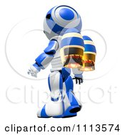 Clipart 3d Ao Maru Robot With A Jet Pack Royalty Free CGI Illustration