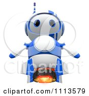 Clipart 3d Blueberry Rocket Robot Royalty Free CGI Illustration