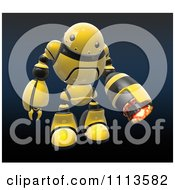 Clipart 3d Hornet Fire Robot With A Flame Thrower Arm 1 Royalty Free CGI Illustration