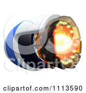 Clipart 3d Rocket Engine With Flames Royalty Free CGI Illustration by Leo Blanchette
