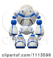 Clipart 3d Rogi Robot Facing Front Royalty Free CGI Illustration by Leo Blanchette