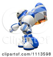 3d Rogi Robot With A Jet Pack 1