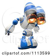3d Rogi Robot With A Jet Pack 2