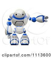 3d Rogi Robot Facing Pointing Right