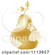 Clipart Gold Map Pear With A Dew Drop Royalty Free Vector Illustration