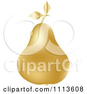 Clipart Gold Pear With A Dew Drop Royalty Free Vector Illustration by Andrei Marincas