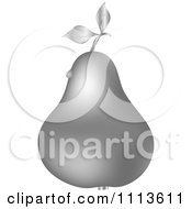 Clipart Silver Pear With A Dew Drop Royalty Free Vector Illustration by Andrei Marincas