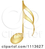 Clipart Shiny Gold Music Note Royalty Free Vector Illustration