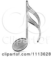 Clipart Black Scribble Music Note Royalty Free Vector Illustration by Andrei Marincas #COLLC1113628-0167