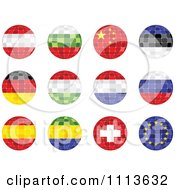 Clipart 3d Mosaic National Flag Orbs Royalty Free Vector Illustration
